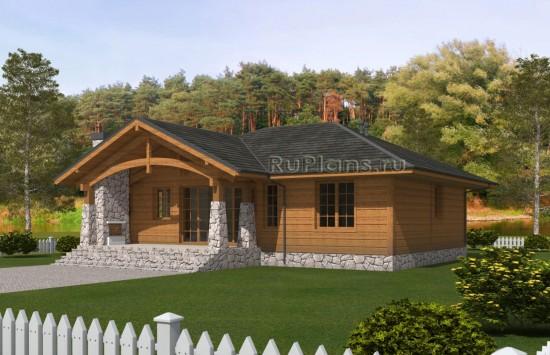 Проект экологичного одноэтажного дома Rg5031