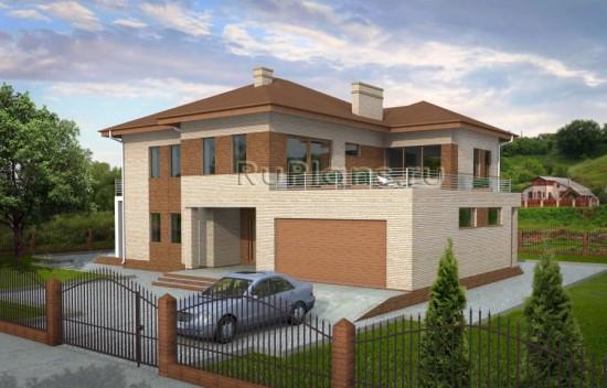 Проект двухэтажного дома с гаражом Rg3797