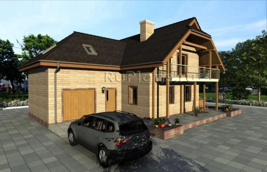 Проект дома в 1 этаж с мансардой Rg3934