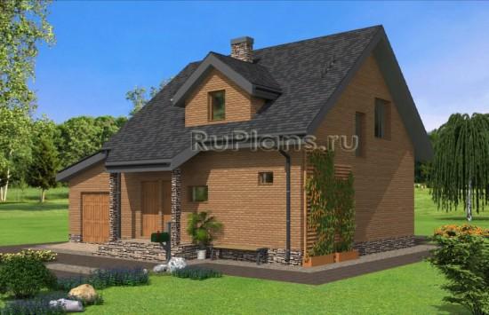 Проект уютного одноэтажного дома с мансардой Rg4856
