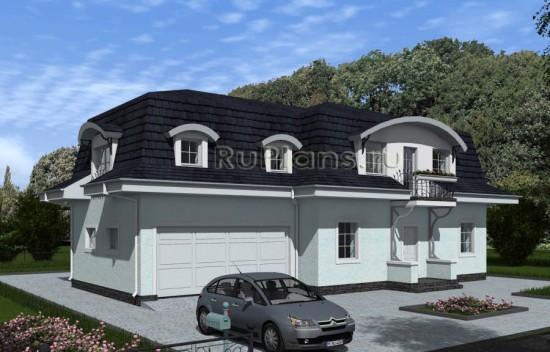 Проект индивидуального одноэтажного  жилого дома с мансардой Rg4867