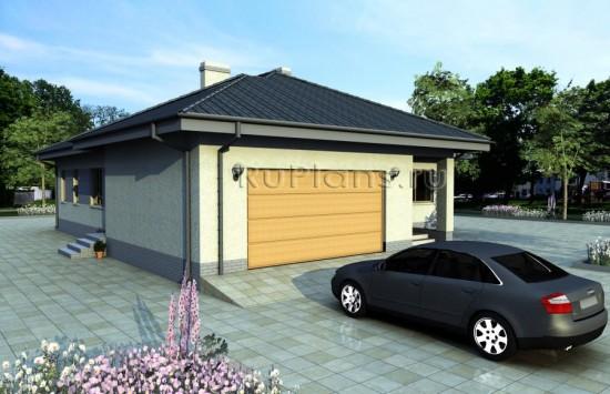 Одноэтажный дом с большим гаражом Rg3853