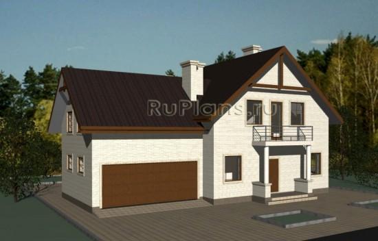 Дом с мансардой и гаражом на две машины Rg3364
