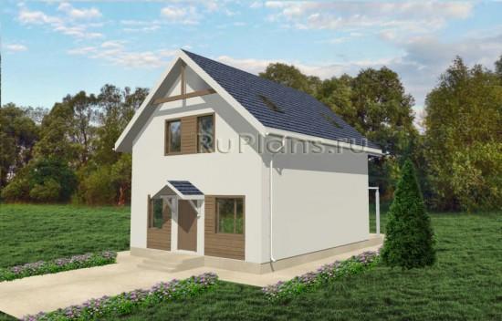 Одноэтажный дом с мансардой Rg3569