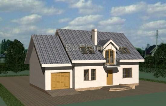Проект прекрасного одноэтажного дома с мансардой Rg3320