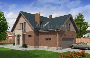 Проект одноэтажного дома с мансардой Rg4796