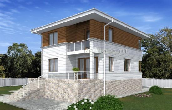 Проект двухэтажного дома с подпольем Rg5027