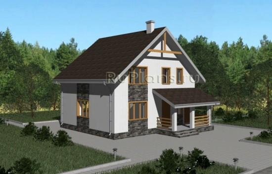 Аккуратный дом с мансардой Rg3842