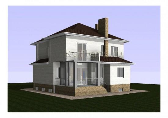 Проект жилого дома с цокольным этажом Rg4805