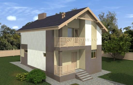 Проект компактного одноэтажного дома с мансардой Rg5040