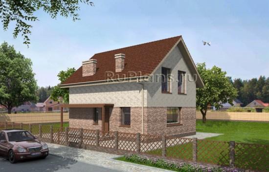 Проект небольшого одноэтажного дома с мансардой Rg3431