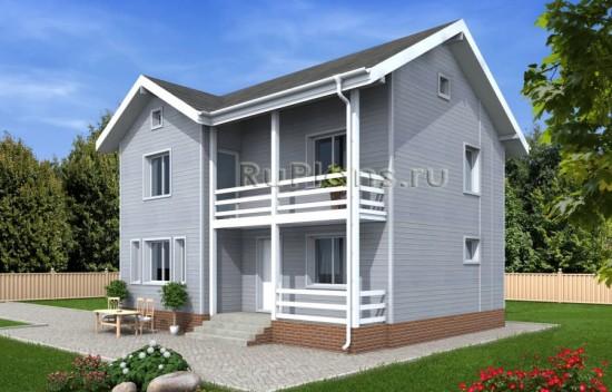 Проект двухэтажного дома в американском стиле Rg4822