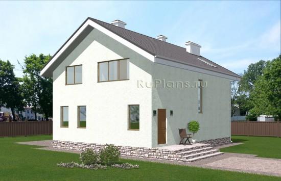 Проект небольшого одноэтажного жилого дома с мансардой Rg5024