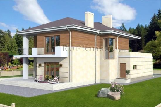 Проект двухэтажного дома Rg3785