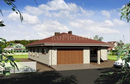 Одноэтажный стильный дом Rg3846