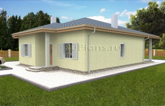 Вместительный одноэтажный дом с подвалом Rg3672