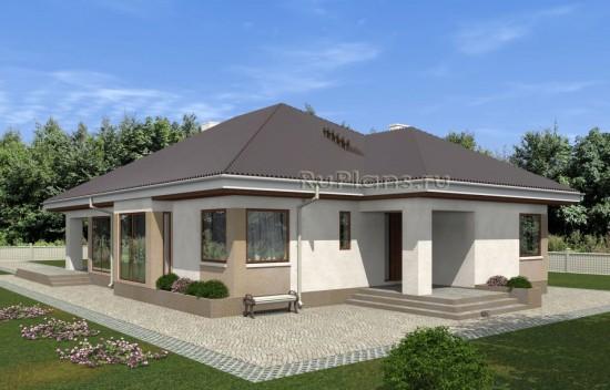 Проект комфортного одноэтажного дома с просторной террасой Rg5028