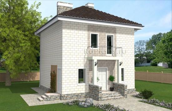 Проект компактного двухэтажного дома Rg4888