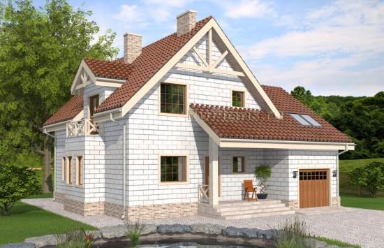 Аккуратный одноэтажный дом с мансардой Rg4900