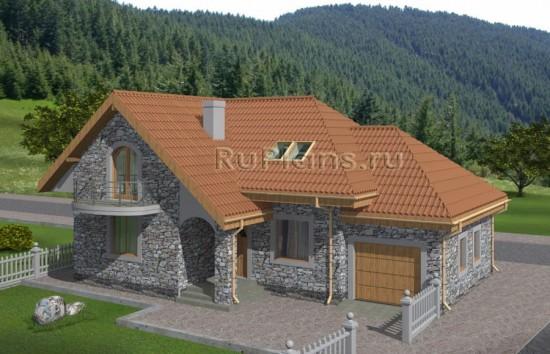 Высокогорный дом с мансардой Rg4980
