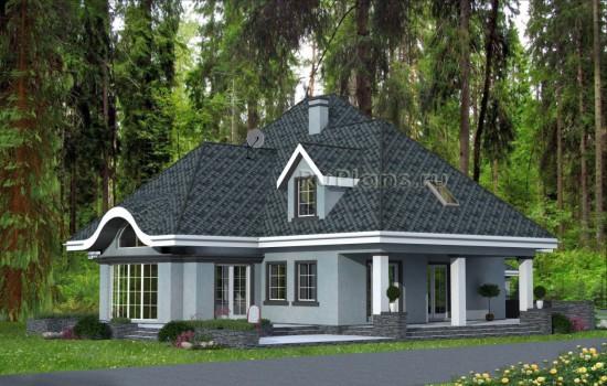 Проект одноэтажного дома с мансардой и гаражом Rg5021