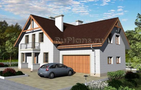 Проект дома с мансардой и подвалом Rg3246