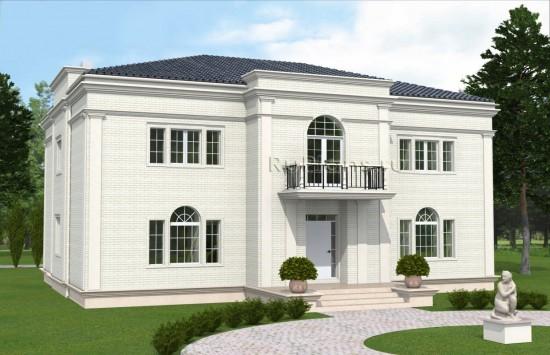 Проект двухэтажного особняка с подвалом Rg4930