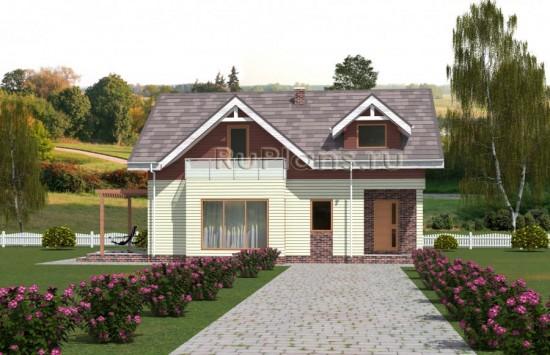 Проект романтичного одноэтажного дома с подвалом и мансардой Rg5046