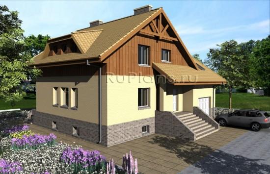 Готовый проект комфортного дома с уютной планировкой Rg3936