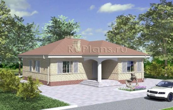 Проект компактного одноэтажного дома Rg3433