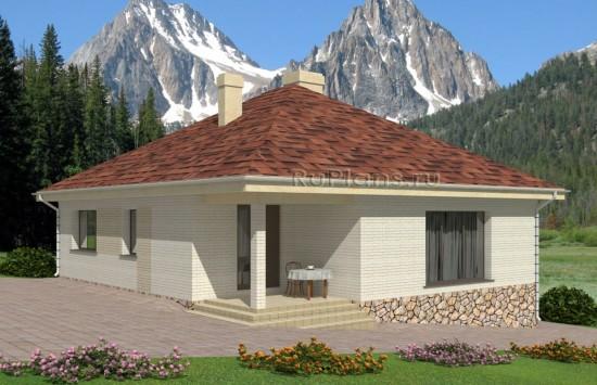 Проект уютного одноэтажного дома. Rg4985