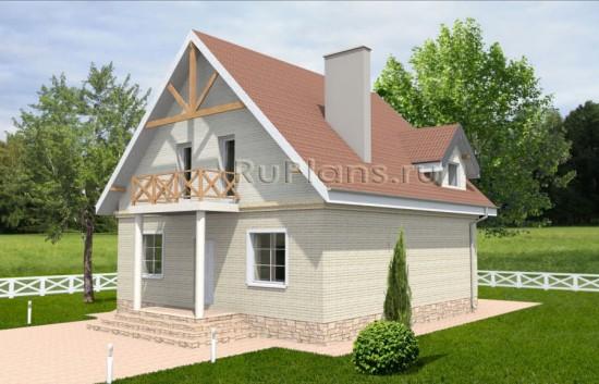 Проект дома с мансардой, 11х10 м Rg3561