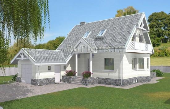Проект комфортного одноэтажного дома с мансардой и подвалом Rg5039