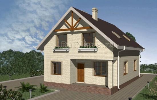 Проект уютного дома с мансардой и гаражом Rg3346