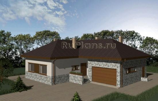 Проект двухэтажного дома с террасой Rg3675