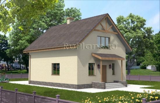 Компактный дом с мансардой Rg3210