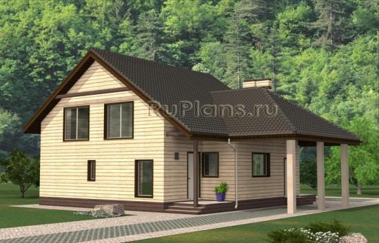 Проект одноэтажного дома с мансардой Rg4838