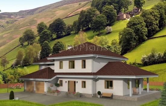 Проект одноквартирного дома с оригинальным дизайном Rg1587