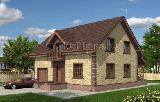 Частный дом с мансардой и гаражом Rg4032