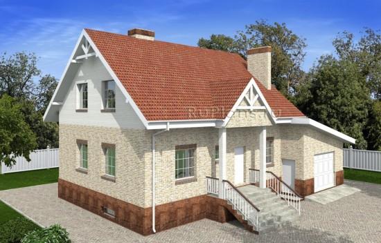 Проект одноэтажного дома с подвалом и мансардой Rg4908